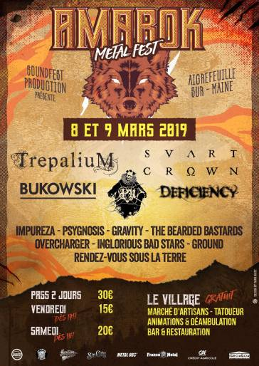 Amarok Metal Fest 2019 - affiche
