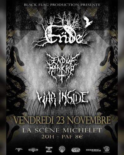 Ende, End Of Mankind & War Inside à Nantes
