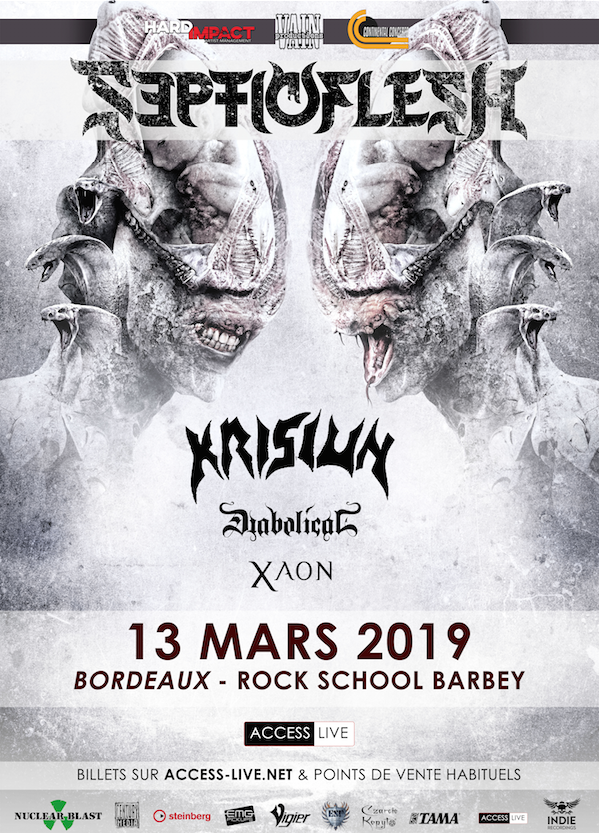 SepticFlesh, Krisiun, Diabolical, Xaon @ Rock School Barbey