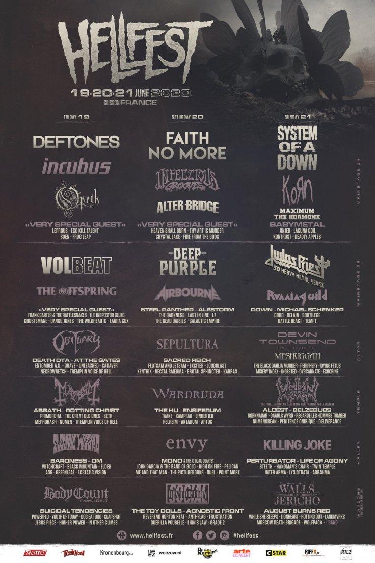 Hellfest 2020 - line-up (affiche)