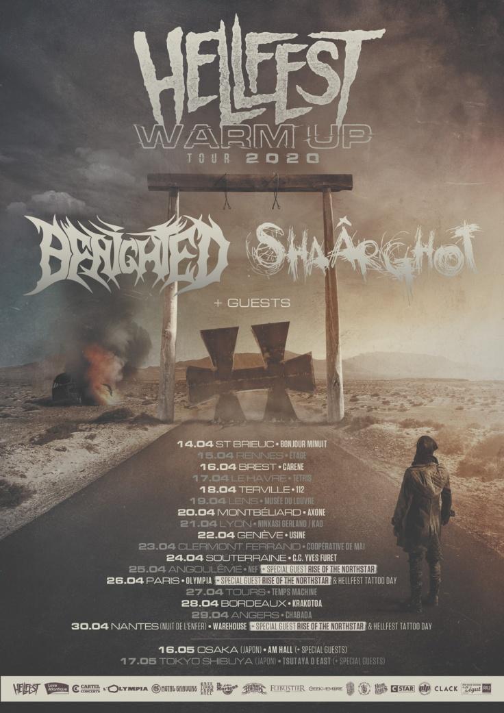 Hellfest Warm Up Tour 2020 - affiche