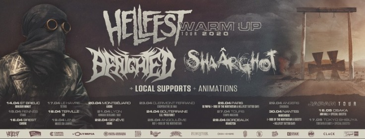 Hellfest Warm Up Tour 2020 - bandeau