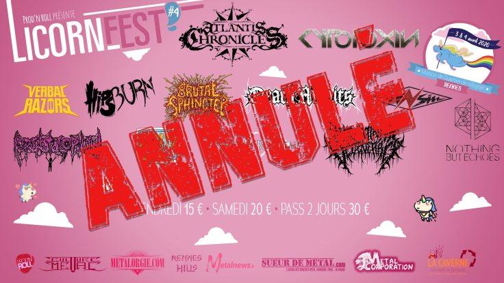 Licorne Fest #4 annulé